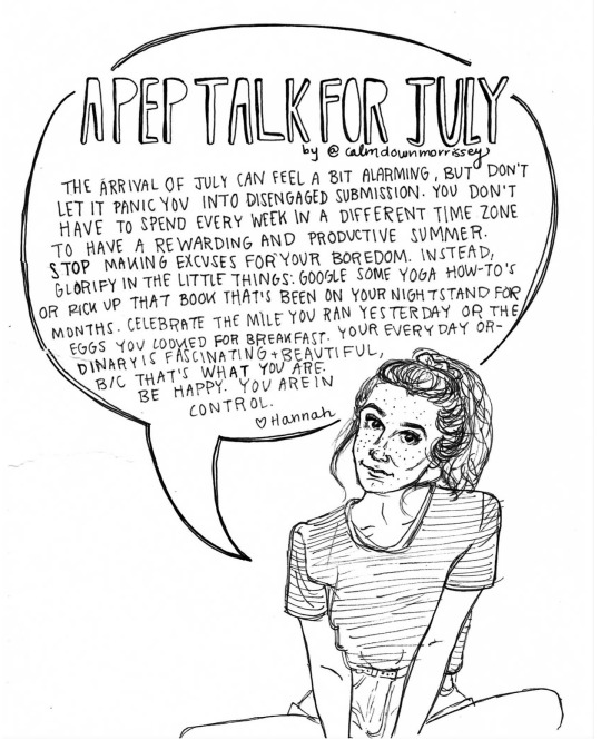 a pep talk for july